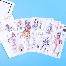 22 вида милых и бумажных дневников наклеек ПВХ прозрачных скрапбуков