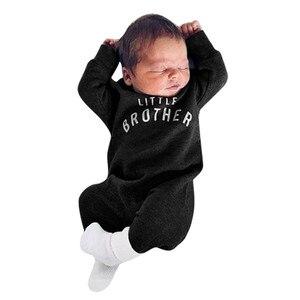 Для маленьких мальчиков и девочек; Хлопковый комбинезон с длинными рукавами и буквенным принтом, для матерей большие папа равных мне комбинезон, одежда для подвижных игр; Детский комбинезончик костюм Infantis