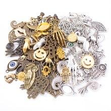 50 г 100 Смешанные Подвески винтажные античные бронзовые браслеты