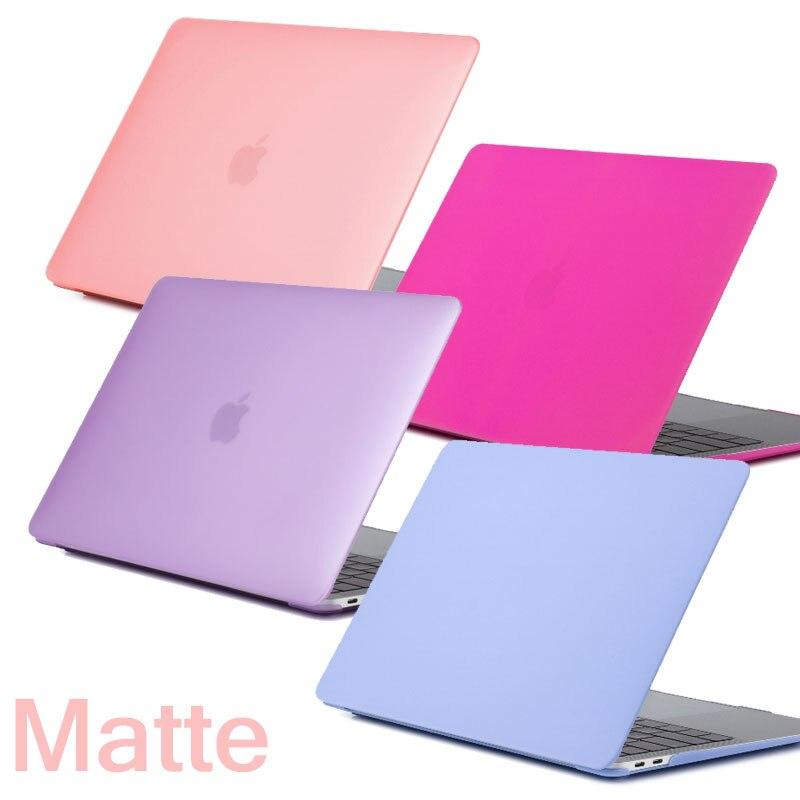 Coque para MacBook Pro 13 Pro 15 sólida 2016 2018 Barra de Toque Caso Matte Dura do PC Capa para Mac book air Pro Retina 11 12 13 15 Caso