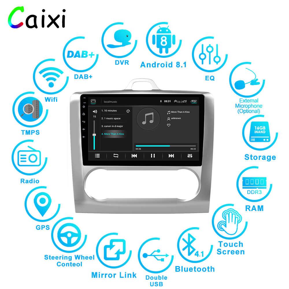 CAIXI 9 ''سيارة أندرويد 8.1 2Din راديو السيارة لتحديد المواقع مشغل وسائط متعددة ل 2004 2005 2006-2011 فورد فوكس Exi في 2DIN مشغل أسطوانات للسيارة مع dvr