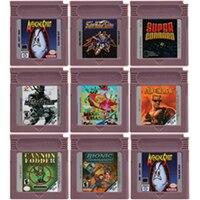 16 بت لعبة فيديو خرطوشة بطاقة وحدة التحكم لنينتندو GBC STG مطلق النار لعبة سلسلة اللغة الإنجليزية الطبعة