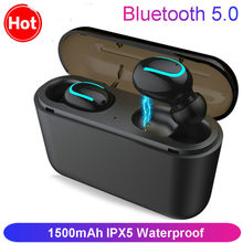 HBQ Q32 TWS Headset Ture Wireless Earphones Bluetooth Headset 5.0 With Mic Mini Bluetooth Earbud Cordless Earphone(China)
