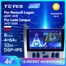 TEYES CC2 için Renault Logan 1 Sandero 2009 - 2015 Lada Largus için Lergus 2012 - 2020 Dacia Duster 2010 - 2017 araba radyo multimedya Video oynatıcı navigasyon GPS Android 8.1 hayır 2din 2 din dvd(China)