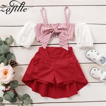 ZAFILLE Summer New Baby Girl Clothes Sets Sleeveless Bow Top+Solid Skirt 2Pcs for Kids Clothing Sets Baby Clothes Outfits Sets zafille girls clothing 2pcs lace top leopard skirt baby girl clothes long sleeve toddler outfits sets kids clothes baby clothing