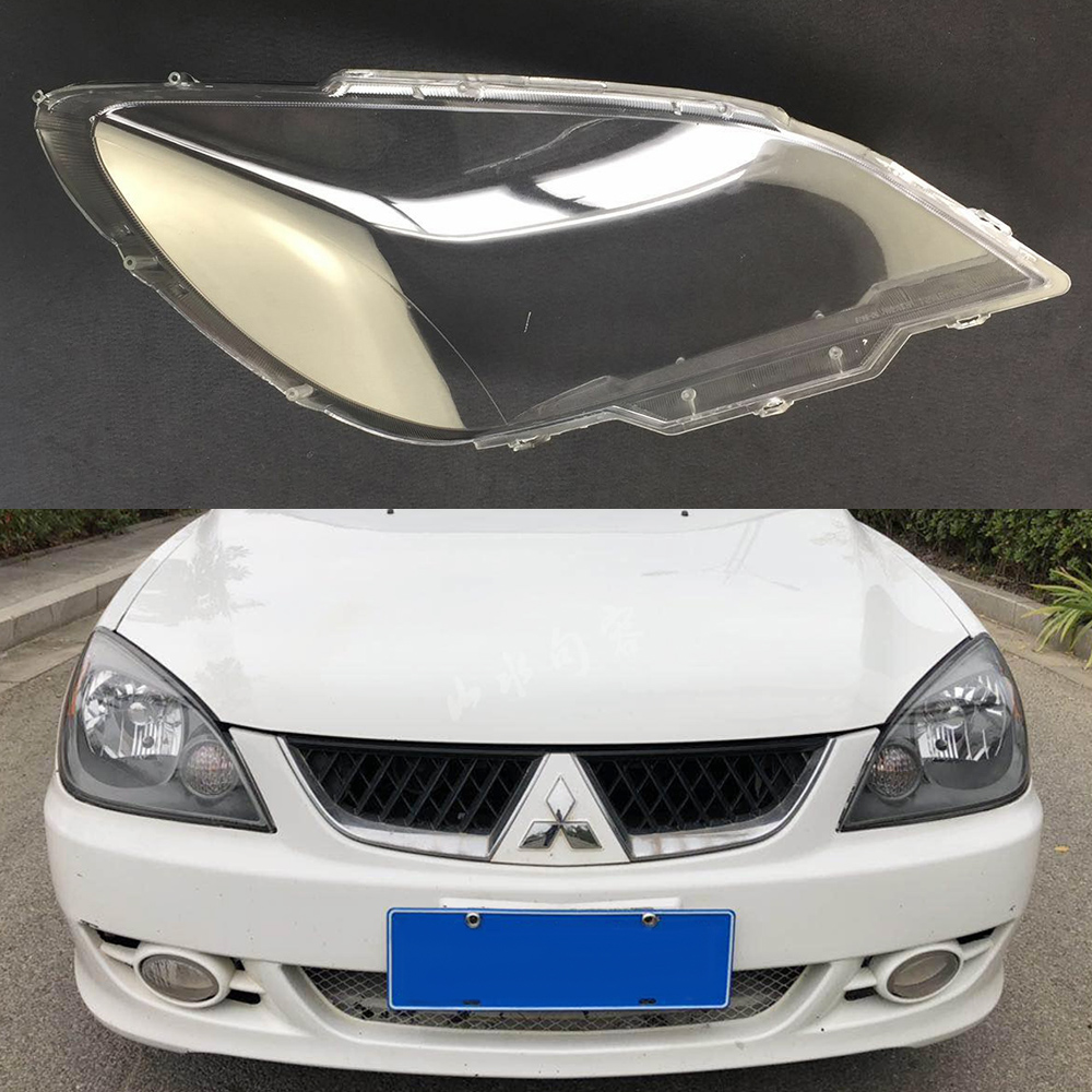 Headlight Lens For Mitsubishi Lancer 2007 2008 2009 2010 2011 Headlamp Cover Car Replacement Head Light Auto Shell