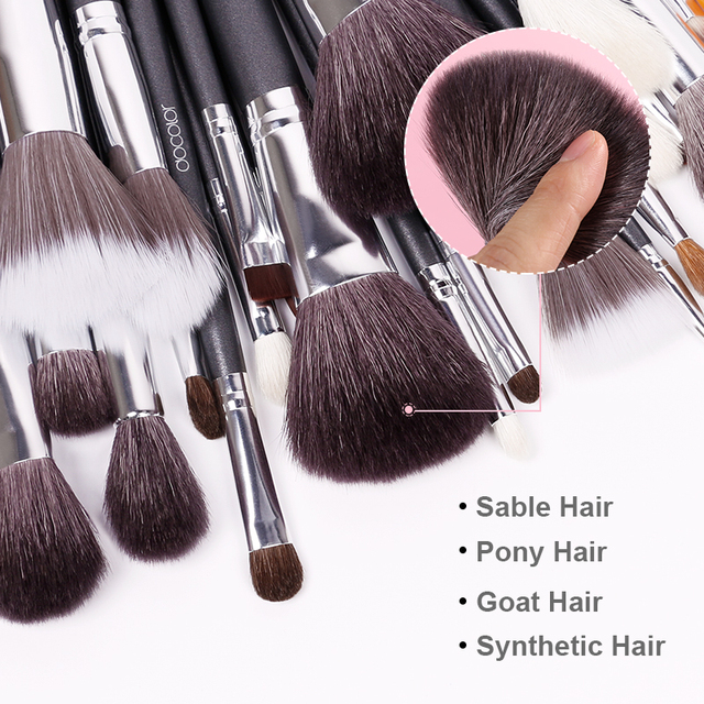 Docolor Black Makeup brushes set 10-29pcs Professional Natural hair brushes Foundation Powder Contour Eyeshadow make up brushes 2