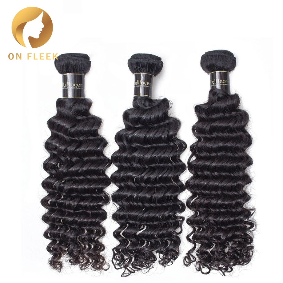 Brazilian Virgin Hair Deep Wave 100 Unprocessed Natural Color Human Hair Weave Bundles 3 Bundles Free Shipping