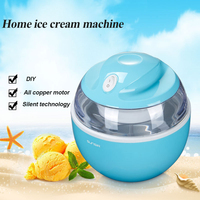 Portable Full Automatic Ice Cream Machine 600ml Household Fast Yogurt Ice Making Machine Small Mini Ice Cream Machine 2019 New