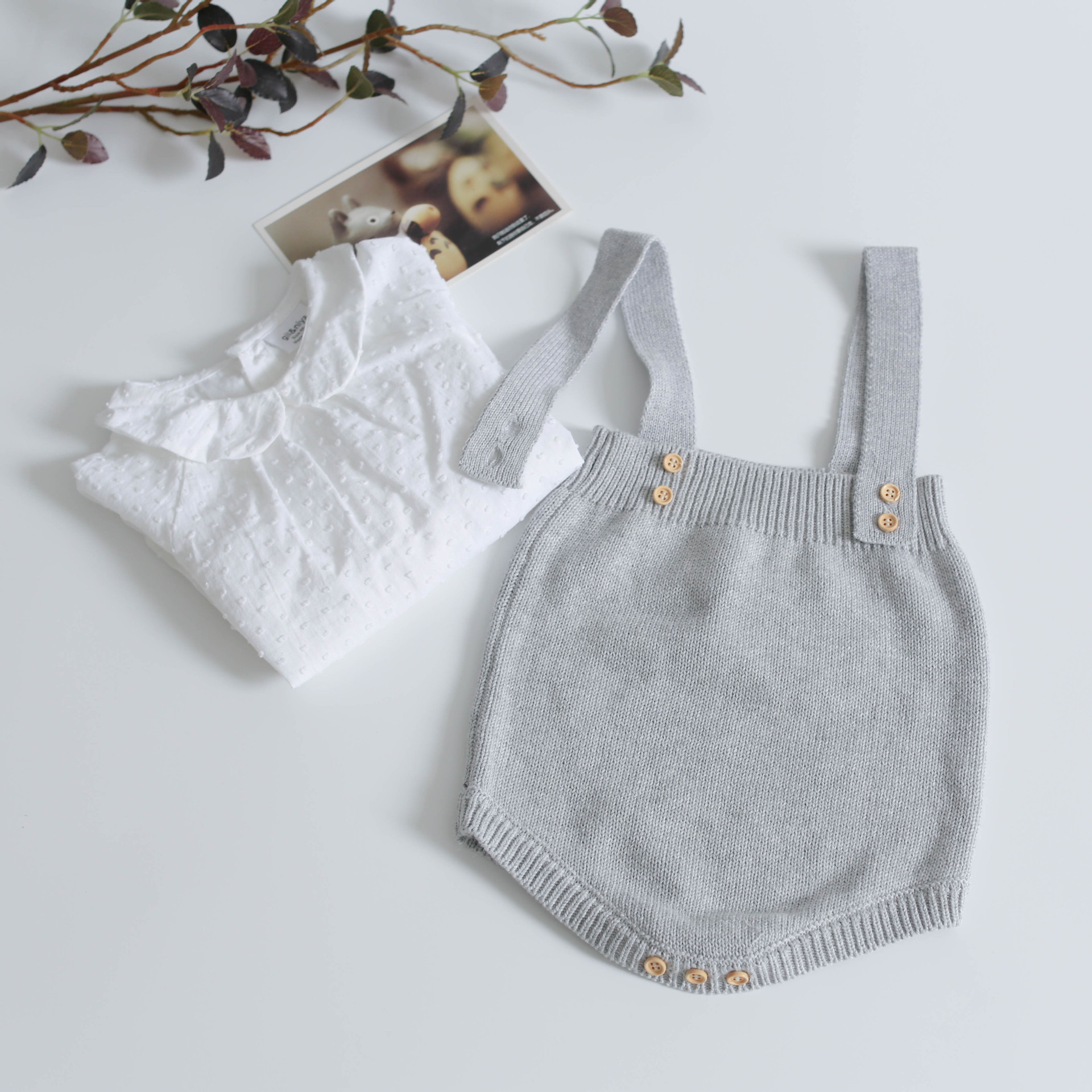 H235095faef6c46c0b7bbc8482bb4f7010 Baby Knitting Rompers Cute Overalls Newborn Baby Girls Boys Clothes Infantil Baby Girl Boy Sleeveless Romper Jumpsuit 0-24m