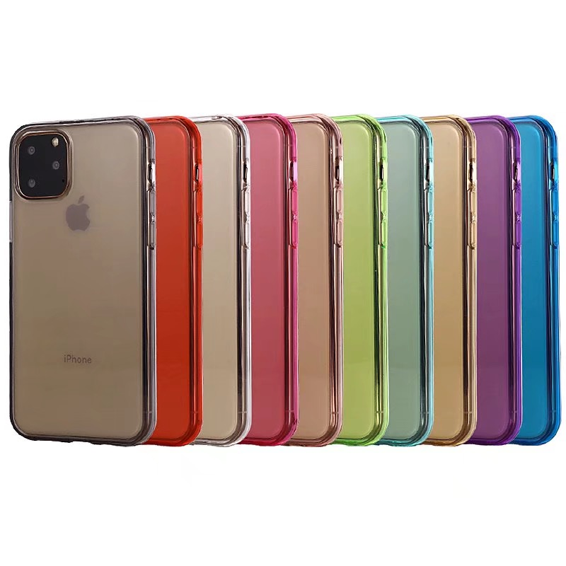 Comanke Transparent Candy Color Silicone Cases for iPhone 11/11 Pro/11 Pro Max 35