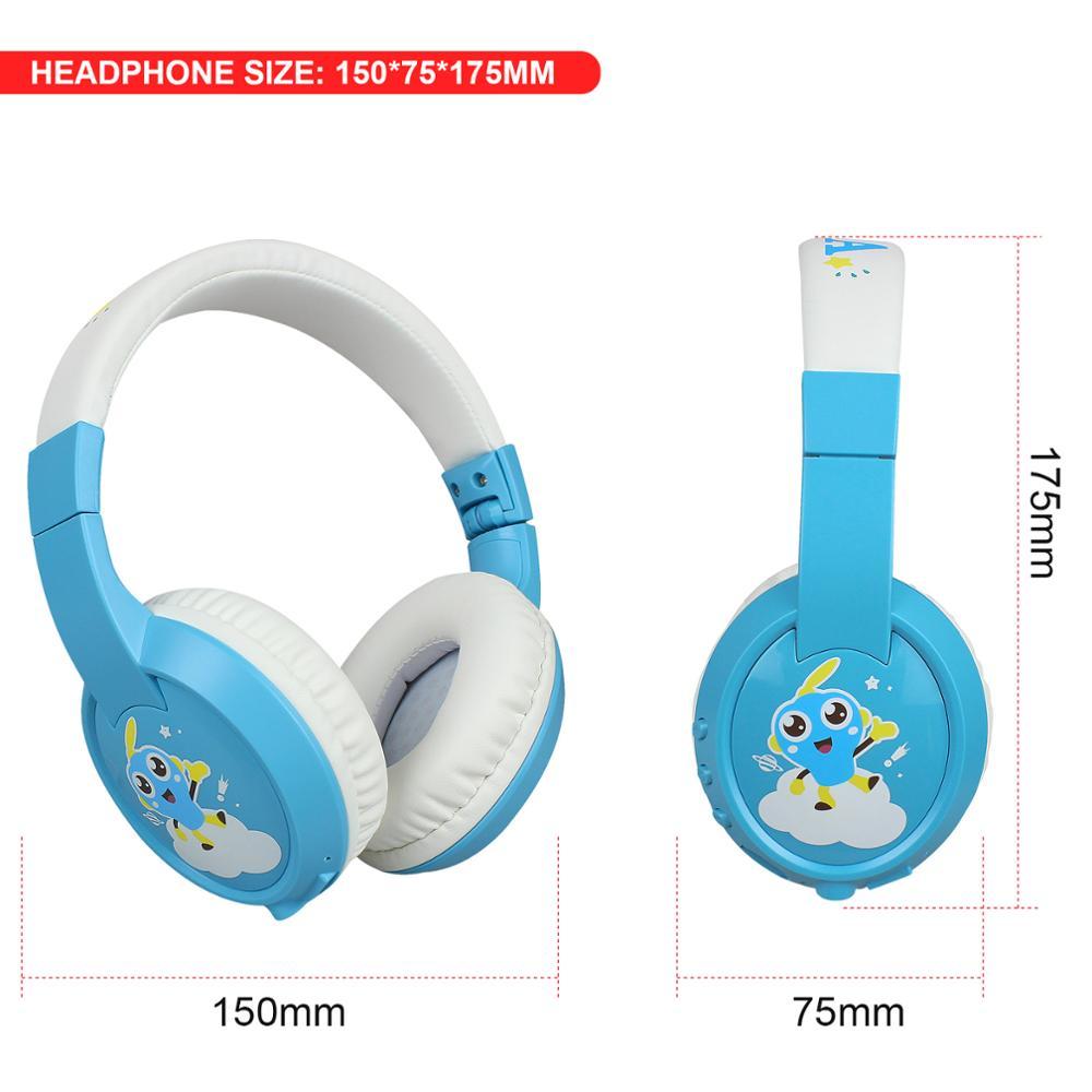 Kinderen Draadloze Headset Bt 5.0 Kinderen Leren/Entertainment Met Microfoon Opvouwbaar Bluetooth Hoofdtelefoon MP3 Muziek 4