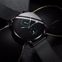 Mężczyźni zegarek CRRJU Top marka wodoodporny zegarek kwarcowy na rękę zegarki męskie ze stali nierdzewnej sport mężczyzna zegar data Relogio Masculino
