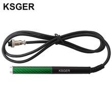 KSGER mango de fibra de carbono T12 de aleación de aluminio FX9501 para Estación de soldadura de hierro OLED STM32, herramientas eléctricas de Punta de soldadura V2.1S