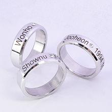 цена на KPOP MONSTA X Ring Finger Rings for Women and Men Shownu Monsta X Accessories