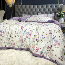 Bedding-Set Duvet-Cover Queen Cotton TUTUBIRD Bed-Linen Floral-Bloom Pastoral Princess