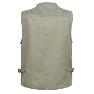 Image 2 - 5XL 6XL 7XL Nieuwe Mannelijke Toevallige Zomer Grote Size Katoen Mouwloos Vest Met Vele 16 Zakken Mannen Multi Pocket Foto vest