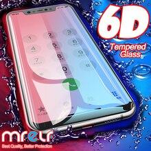 6D en vidrio para Xiaomi Red mi Note 7 6 Pro 5 4X Protector de pantalla rojo mi 7A Note 7 5 6 Pro protector de pantalla vidrio protector templado para Xiaomi mi 9 SE 8 A2 Lite A3 CC9 CC9E mi 9 El vidrio de seguridad 7A