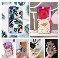 case for iPhone 7 8 6 6S X XS Max XR Plus case 8Plus Lovely protection coque ipone i6 i7 i8 ix i6s imd PC Soft Moble Back cover