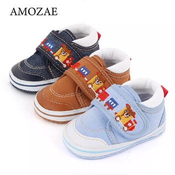 2020 New Boys Toddler Shoes Velcro Soft Bottom Non-slip Wear-resistant Low-cut Baby Girls Embroidered
