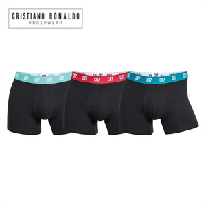 Image 1 - Famous brand Cristiano Ronaldo CR7 6pcs Mens Boxer Shorts Underwear Cotton Boxers Sexy Underpants quality Pull in Male Panties