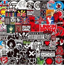 Adesivo de música retrô jdm para moto, adesivos de graffiti jdm para diy, guitarra, computador portátil, bagagem, skate, carro, snowboard, com 100 peças