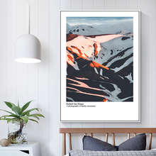 Snow Mountain Landscape Canvas Painting Poster Peak Wall Art Print Nordic Poster Modern Paintings Wall Pictures For Living Room