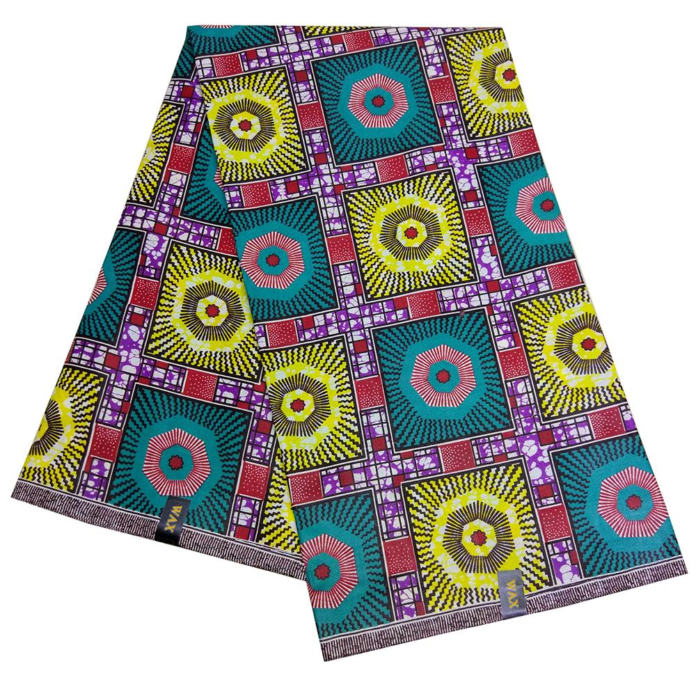 6Yards\lot African Real Dutch Wax Colorful Party African Dashiki Women Dress Wax Fabric