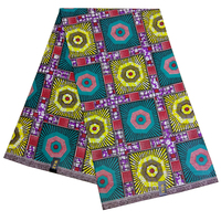 6Yards\lot African Real Dutch Wax Colorful Party African Dashiki Women Dress Wax Fabric