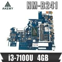 NM B241 for Lenovo 320 15ISK 520 15ISK laptop motherboard i3 7100U 4GB DG421 DG521 DG721 NM B241 100% Tested original work Motherboards    -