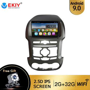 EKIY 9'' IPS Car Radio Android 9.0 Auto Stereo Multimedia For Ford Ranger F250 2011 2012-2015 GPS Navi Navigation WiFi Car DVD image