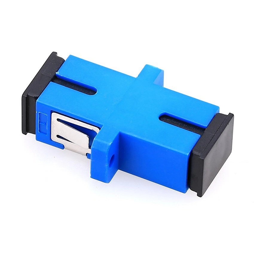 100PCS SC-SC Flange Fiber Coupler UPC Fiber Optic Adapter UPC Optical Simplex Mode SC-SC Fiber Flange PC Connector FTTH
