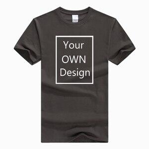 Ваш собственный дизайн, изображение логотипа, буквы на футболке, чистый хлопок, высокое качество, повседневная мужская футболка унисекс, дл...