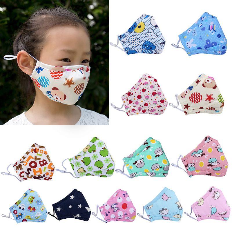 Autumn Winter Pm2.5 Anti-fog Activated Carbon Mask Baby Cartoon Cotton Masks