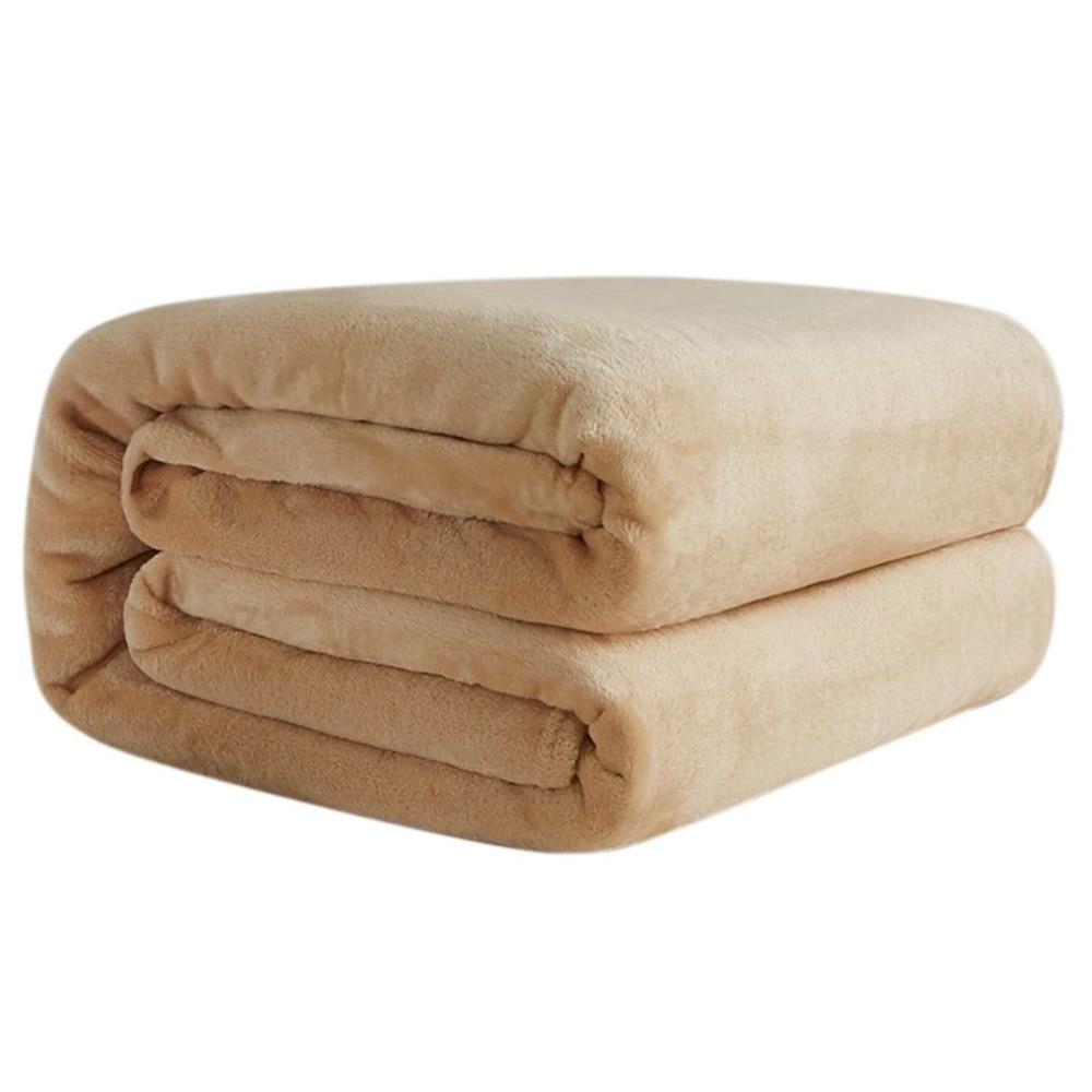 Super Soft Warm Coral Fleece Blanket Winter Sheet Solid Bedspread Sofa Throw  Light Thin Mechanical Wash Flannel Blankets Plaids