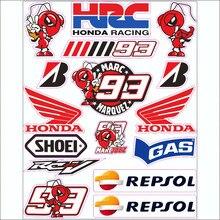 Personality Fashion Car Syicker 1 Set Motocross Motorcycle Stickers Helmet Decals for Honda Cb650r Cbr650r Cbr600 Cb500f Cbr