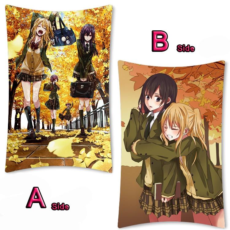"Anime Citrus Aihara Mei Aihara Yuzu Dakimakura Hug Body Pillow Case Cover 39/"""