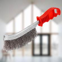 Nettoyeur de rouille pour brosse métallique en acier inoxydable, manche en plastique transparent, brosse en fer, outils à main, brosse, accessoires