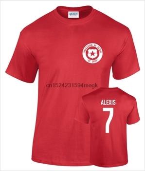 Camiseta de fútbol impreso de algodón para hombre
