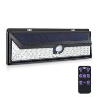 Walkway Lights Motion Sensor Garden Street Lamp Wall Light 92 LED Solar Power Black Security Home Outdoor Durable Flashlight