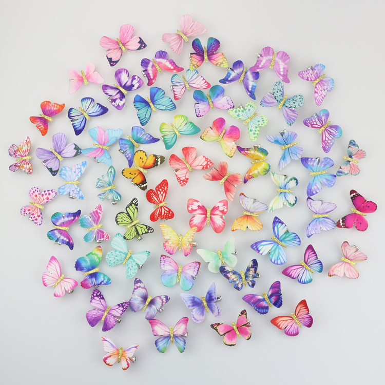 12 Pcs Butterfly Hair Clips For Girls Kids Glitter Barrette Wedding Hairpins Hair Accessories Styling Tools Butterfly Hair Clip