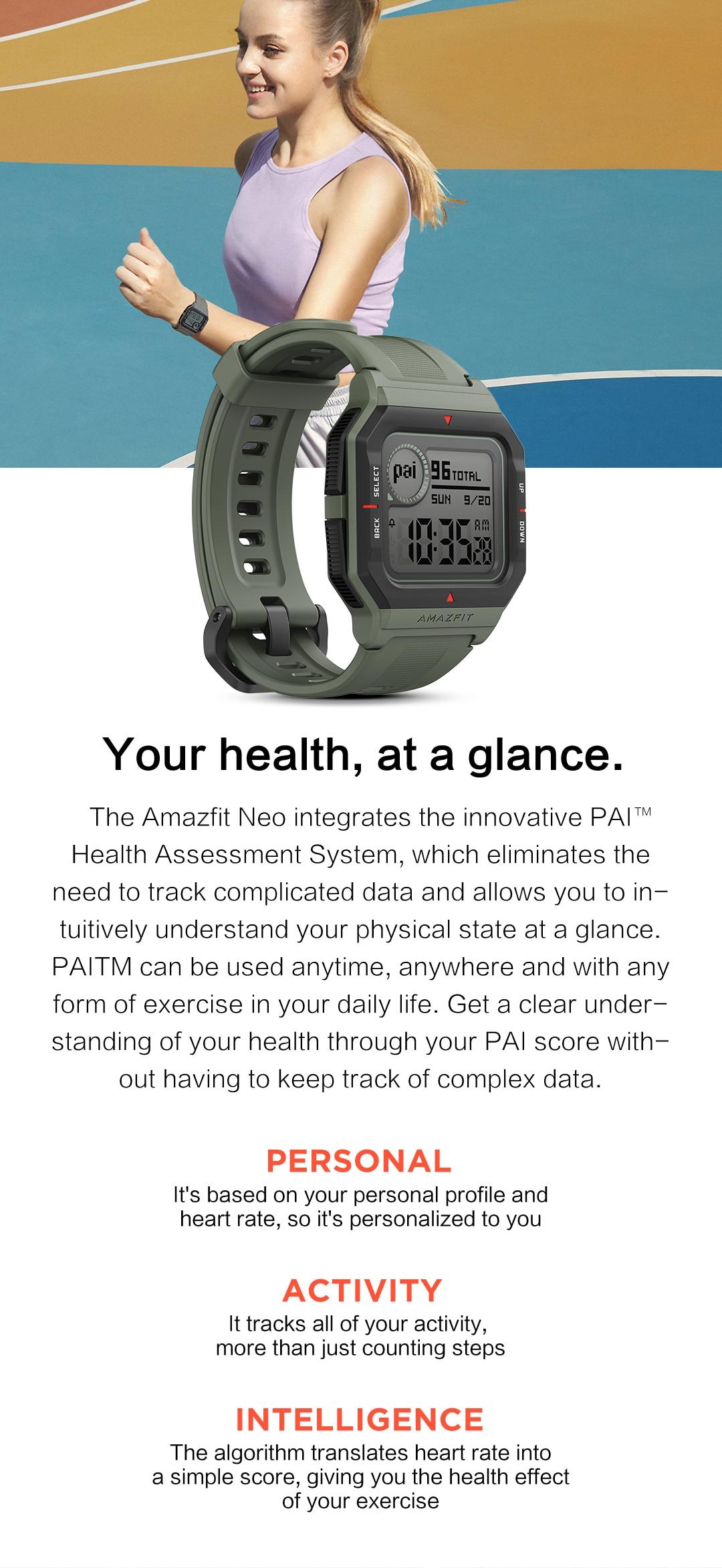 Amazfit Neo Bluetooth Smartwatch 4