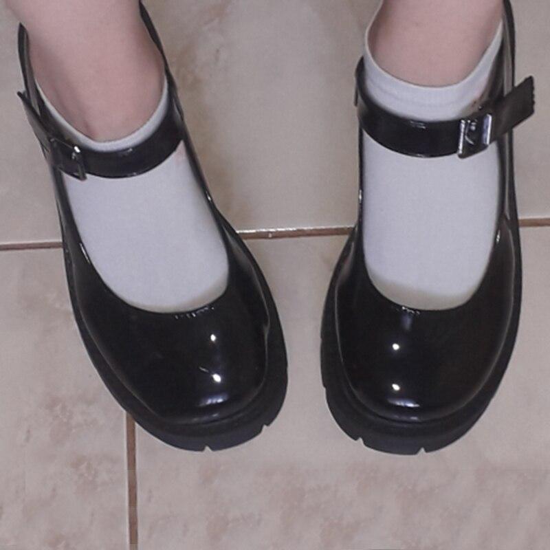 Rimocy/Новинка 2020 года; Черные туфли на высоком каблуке; Женские туфли-лодочки; Модные туфли из лакированной кожи на платформе; Женские туфли Mary...