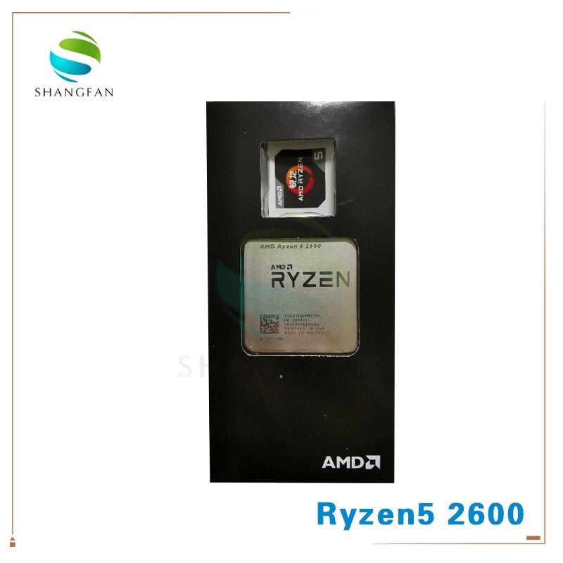 AMD Ryzen 5 2600 R5 2600 3.4 GHz 6 コア Twelve コア 65 ワットの CPU プロセッサ YD2600BBM6IAF ソケット AM4  グループ上の パソコン & オフィス からの CPU の中 1