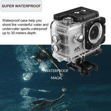"SJ4000 Action Camera Ultra HD 4K / 30fps WiFi 2.0"" 140D Underwater Waterproof Cam Helmet Vedio go Sport pro Came"