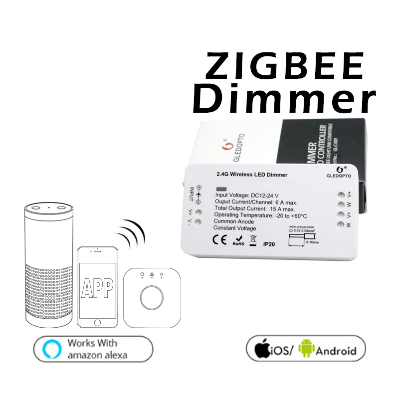 Wireless Control Dimmer LED Lighting Controller 12-24v For Zigbee APP Smart2.4G
