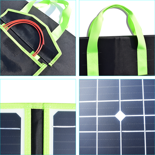 200W Flexible Foldable Solar Panel  + 12V Controller Battery Charger Portable Power Bank for Car Boat Camping Travel Hiking Home 2