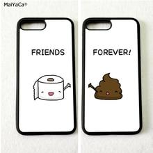 BFF лучшие друзья навсегда туалетная бумага мягкий силиконовый чехол для телефона s для iPhone11 pro max 5S se 6 6s 7 8 plus X XR XS MAX чехол