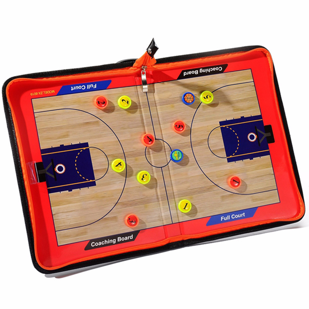 Tactical Clear Wear Resistant Zipper Strategy Sports Guidance Foldable Portable Basketball Training Coaching Board Magnetic