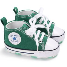 Classic Sports Newborn Infant Baby Boys Girls Solid Canvas F